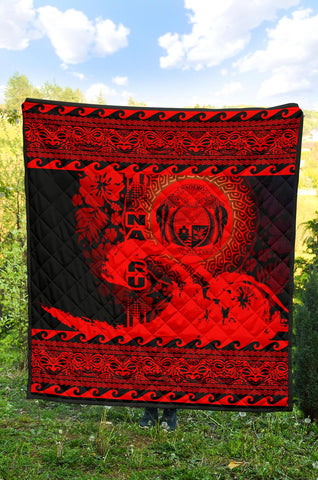 Nauru Quilt Wave Red Design K62