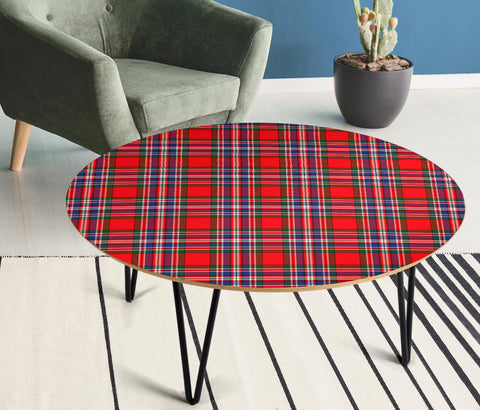 MacFarlane Modern Tartan Circular Coffee Table - BN