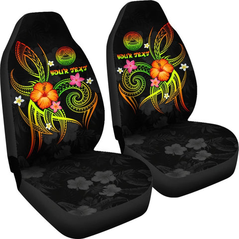 American Samoa Polynesian Personalised Car Seat Covers - Legend of American Samoa (Reggae)