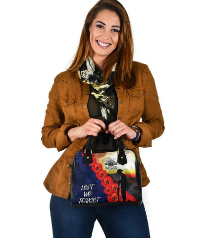 Image of Australia Anzac Lest We Forget Shoulder Handbag - All Gave Some, Some Gave All -