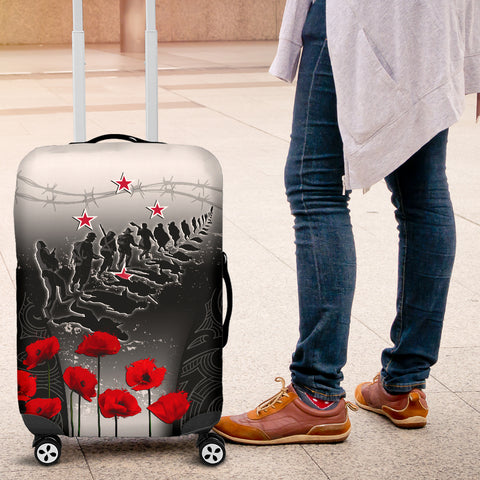 New Zealand Anzac Luggage Covers - Lest We Forget Poppy A02