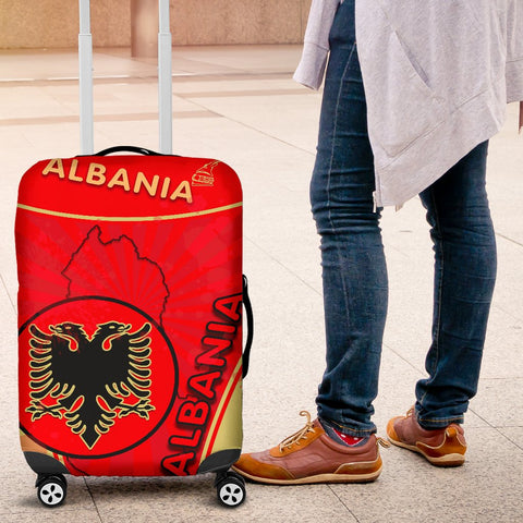 Albania Luggage Covers Circle Stripes Flag Version K13