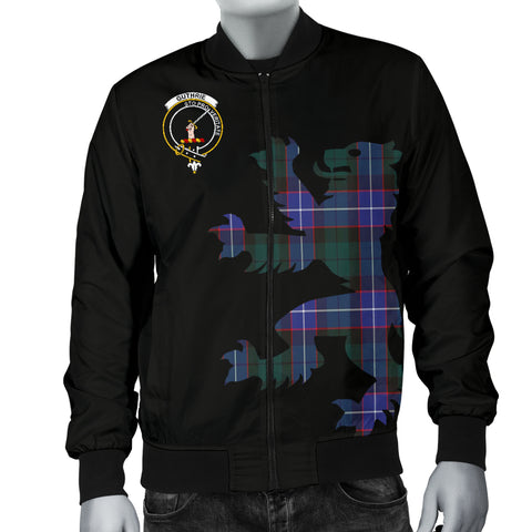Guthrie Tartan Lion And Thistle Bomber Jacket For Men Th8