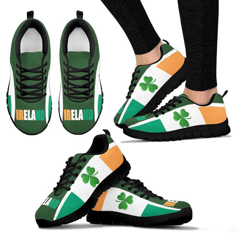 Image of Celtic Sneakers - Ireland Flag With Shamrock, Triskelion and Triquetra - BN21