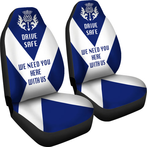 Scotland Car Seat Covers (Set Of 2) - Drive Safe | Custom Design
