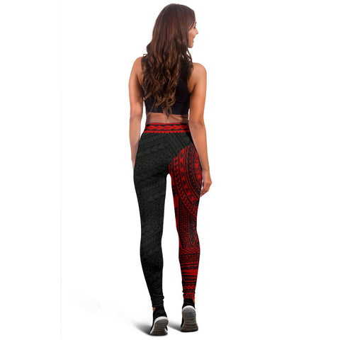 Polynesian Leggings Rising Red A62