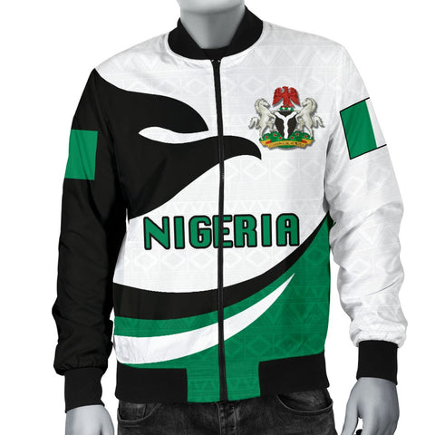 Nigeria Men Bomber Jacket Proud Version K4
