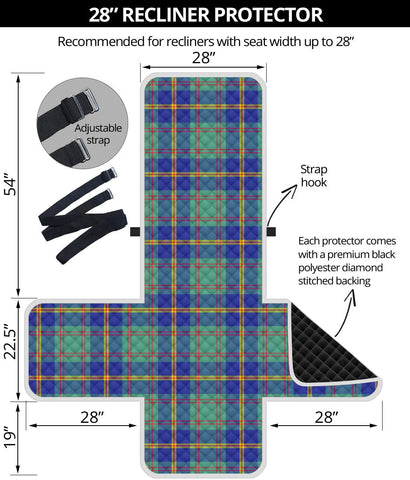 Image of US Marine Tartan Recliner Sofa Protector A9 copy