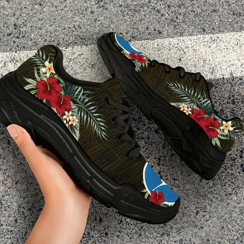 Yap Hibiscus (Men/Women) Chunky Sneakers A7