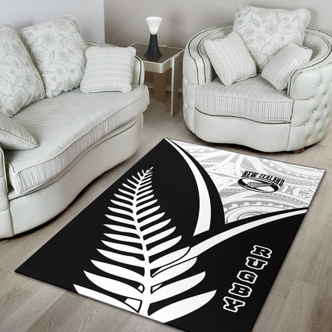 New Zealand Rugby Area Rug - New Zealand Fern & Maori Patterns