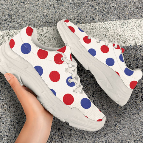 France Chunky Sneakers - Francais Polka Dots Basic