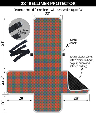 Robertson Ancient Tartan Recliner Sofa Protector | Tartan Home Set