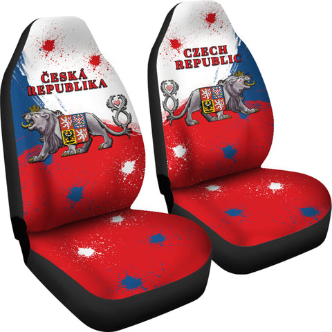 Coat of Arms Czech Republic Lion Car Seat Covers | 1sttheworld