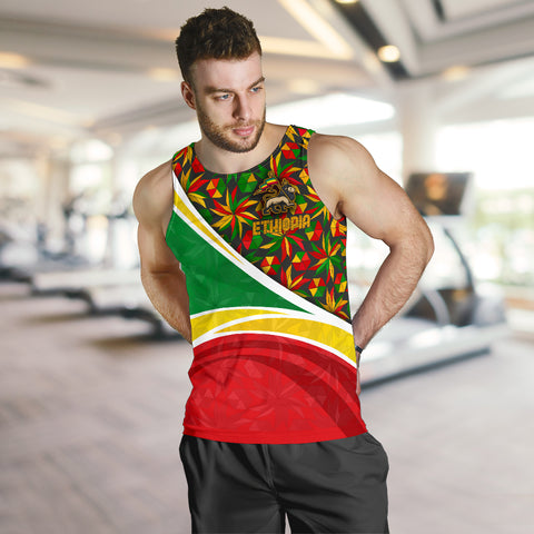 1stTheWorld Ethiopia Tank Top, Ethiopia Lion Of Judah Flag Rasta A10