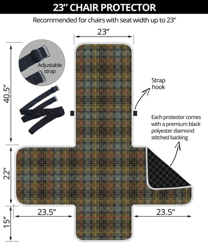 Image of Stewart Hunting Weathered  Tartan Chair Sofa Protector K7