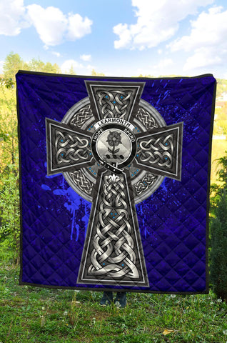 Learmonth Crest Scottish Celtic Cross Scotland Quilt A7