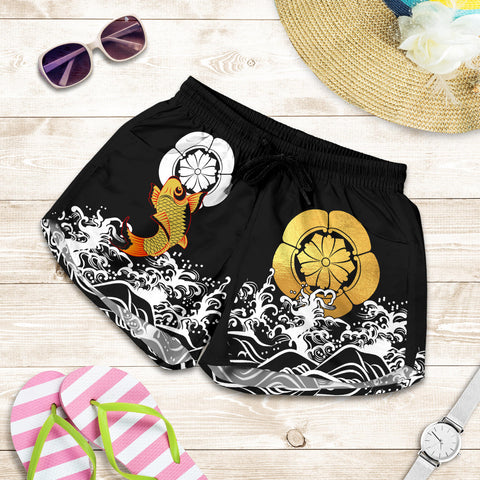 Image of The Golden Koi Fish Women's Shorts A7