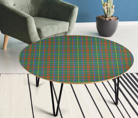 Image of MacKintosh Hunting Ancient Tartan Circular Coffee Table - BN