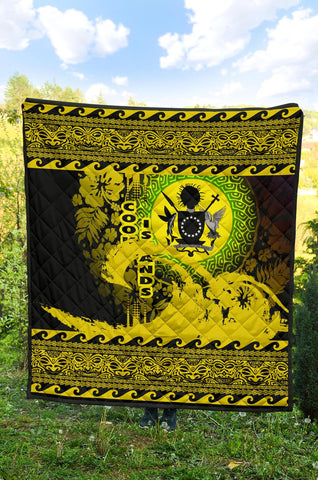 Cook Island Quilt Wave Yellow Design K62