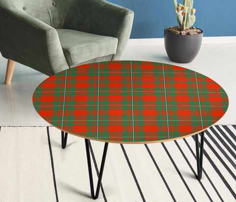 MacGregor Ancient Tartan Circular Coffee Table - BN