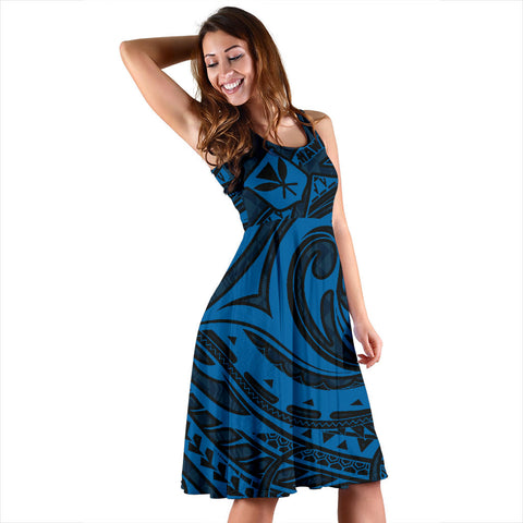 Hawaiian Midi Dress - Special Blue | Clothing | Love The World