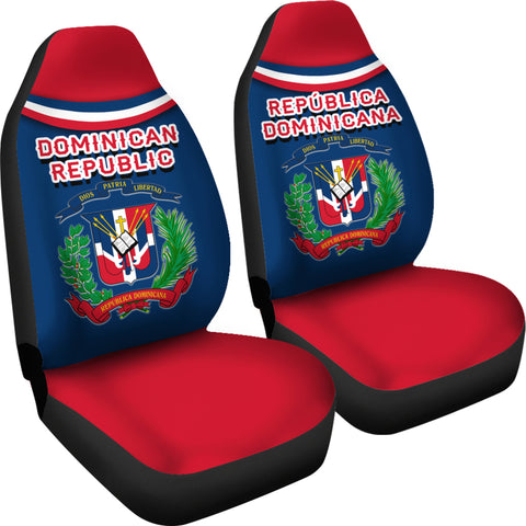 Image of Dominican Republic Car Seat Covers - Vibes Version K8