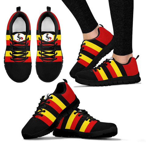 1stTheWorld Uganda Sneakers, Uganda Strong Flag A10