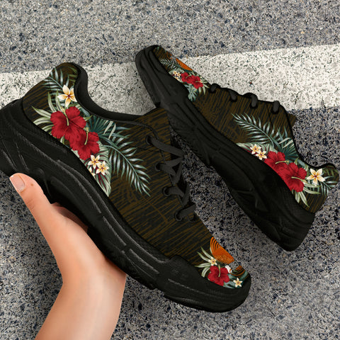 Image of Papua New Guinea 2 Hibiscus (Men/Women) Chunky Sneakers A7