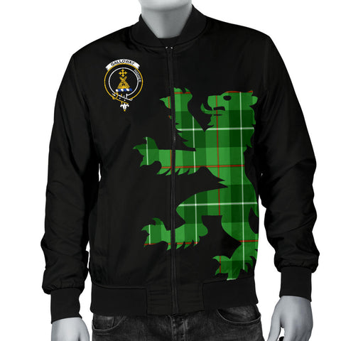 Galloway Tartan Lion And Thistle Bomber Jacket For Men (Galloway Thistle) Ver 2 Th8