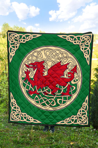 Image of Wales Premium Quilt - Welsh Dragon Quilt 06 - BN02