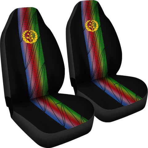 Image of Eritrea Car Seat Covers - Eritrea United (Set of Two) A7
