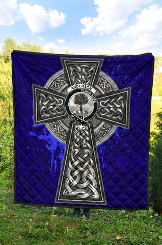 Anderson Crest Scottish Celtic Cross Scotland Quilt A7