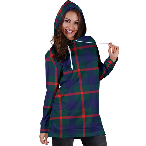 Image of Agnew Modern Tartan Hoodie Dress HJ4
