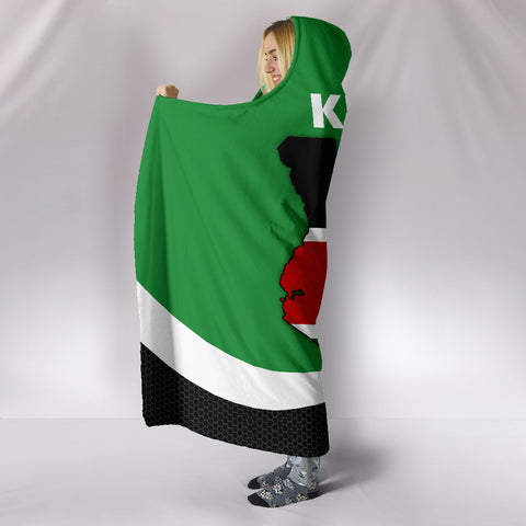Kenya Map Special Hooded Blanket | High Quality | Hot Sale
