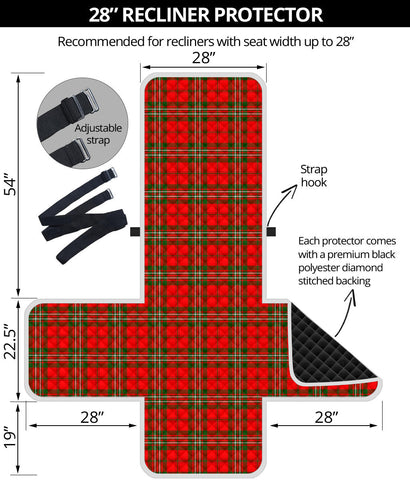 Image of SCOTT MODERN Tartan Recliner Sofa Protector A9 copy