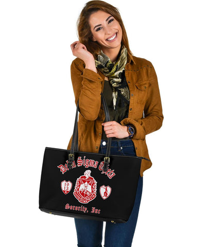 Image of DELTA SIGMA THETA Large Leather Tote A31