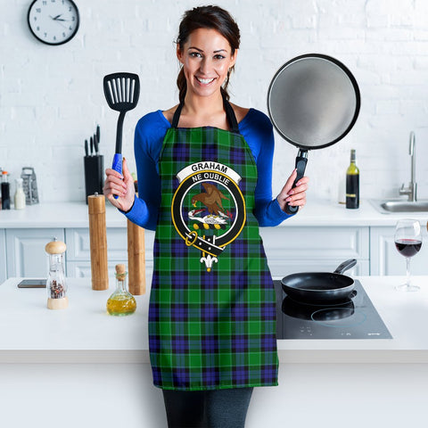 Image of Graham of Menteith Modern Tartan Clan Crest Apron HJ4