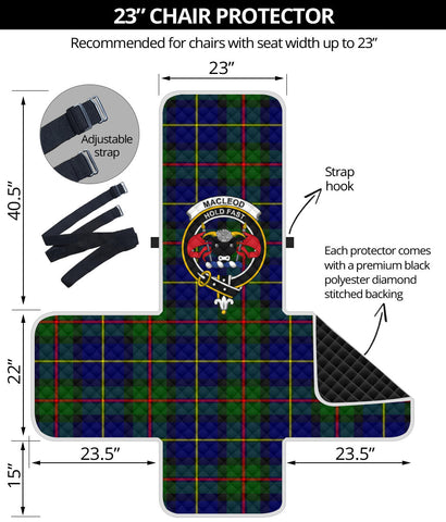 MacLeod of Harris Modern Tartan Clan Badge Sofa Protector K7