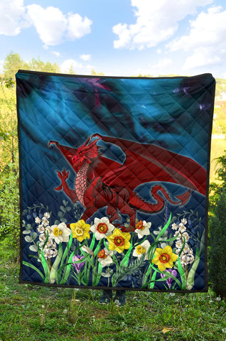 Image of Welsh Premium Quilt - Dragon Daffodil A024