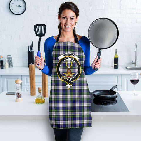Gordon Dress Modern Tartan Clan Crest Apron HJ4