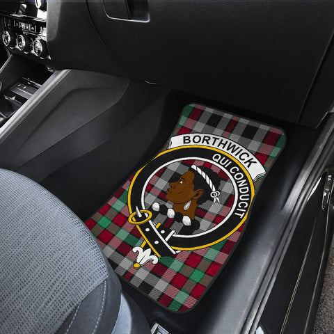 Borthwick Ancient  Tartan Clan Badge Car Floor Mat 4 Pieces K7