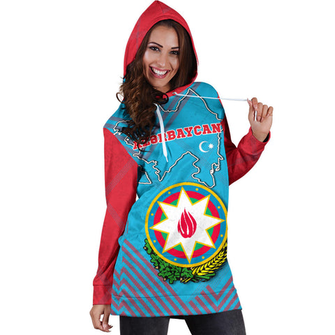 Azerbaijan Hoodie Dress Special Map K5
