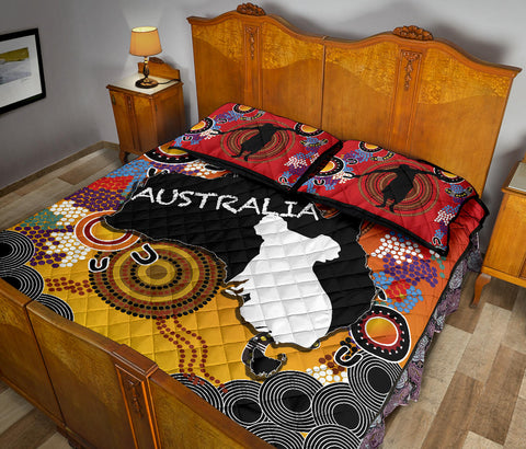 Australia Aboriginal Quilt Bed Set With Map TH4
