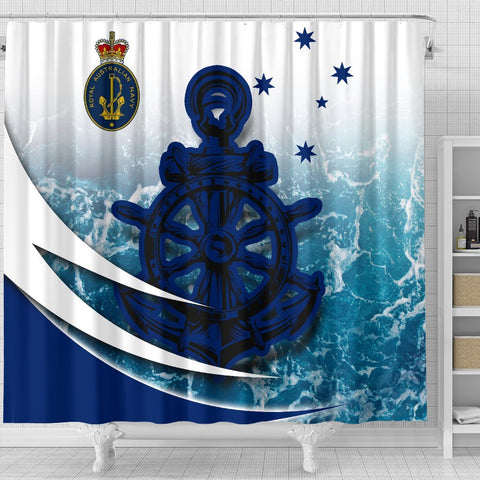 Image of Australia Royal Navy Shower Curtain - Ocean Is Home