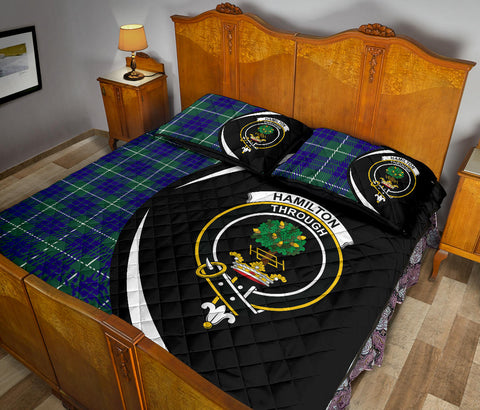 Hamilton Hunting Modern Tartan Quilt Bed Set Circle HJ4