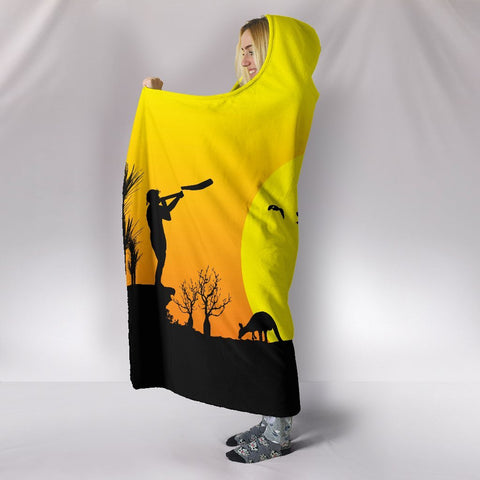 1sttheworld  Hooded Blankets - Sunset Australia View - BN17