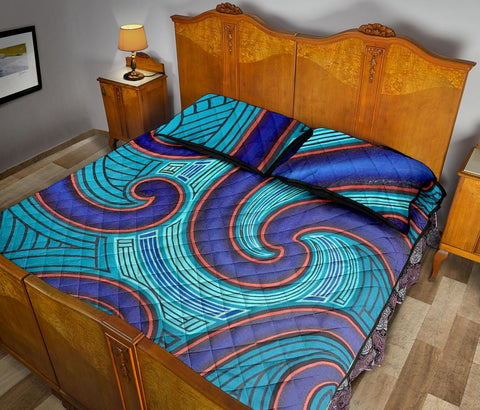 Image of Maori Quilt Bed Set 03 Bn10