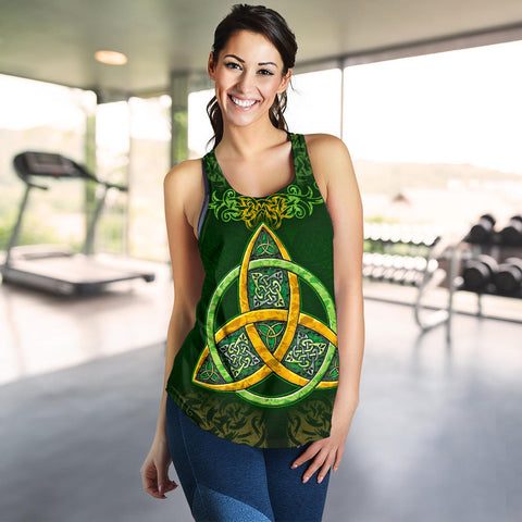 Image of Celtic Knot Women's Racerback Tank - Celtic Green - BN01