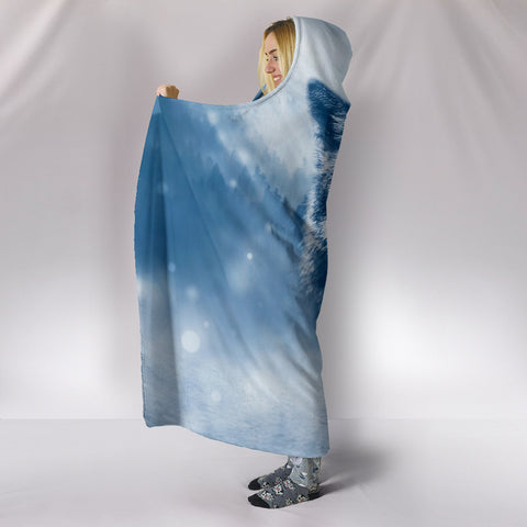 Wolf Hooded Blanket K5