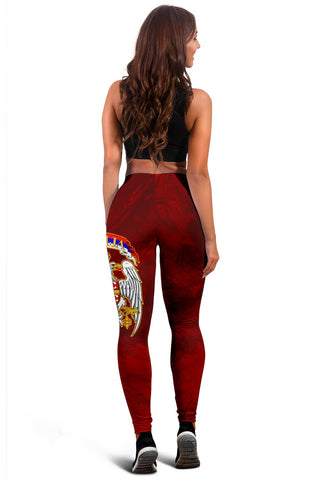 Serbia Women's Leggings Best Serbian Eagle Tattoo A7